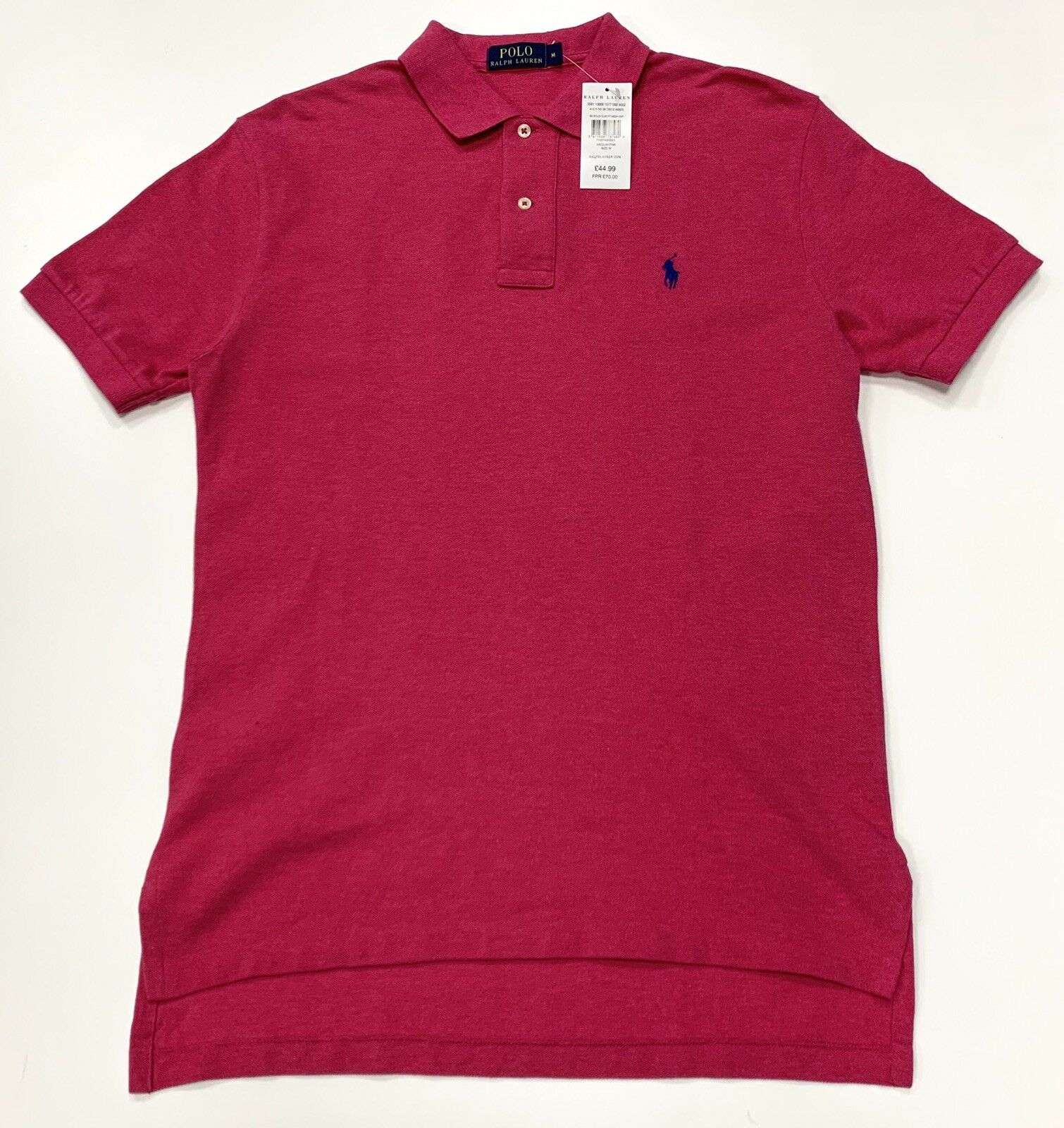 Polo Ralph Lauren Classic Fit Solid Short Sleeve T-Shirt In Pink Size M