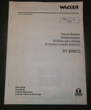 Wacker Rt 820cc Trench Roller Parts Manual Book Catalog