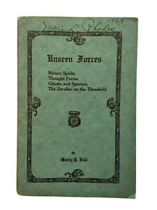 Rare-1929-UNSEEN-FORCES-Manly-P-Hall-spirits-occult-esoteric-palmer