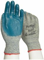 12 Pair Ansell Hyflex 11-501 Cut Resistant Kevlar Glove Blue Nitrile Small, Sz 7