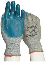 12 Pair Ansell Hyflex 11-501 Cut Resistant Kevlar Glove Blue Nitrile Small, Sz 7