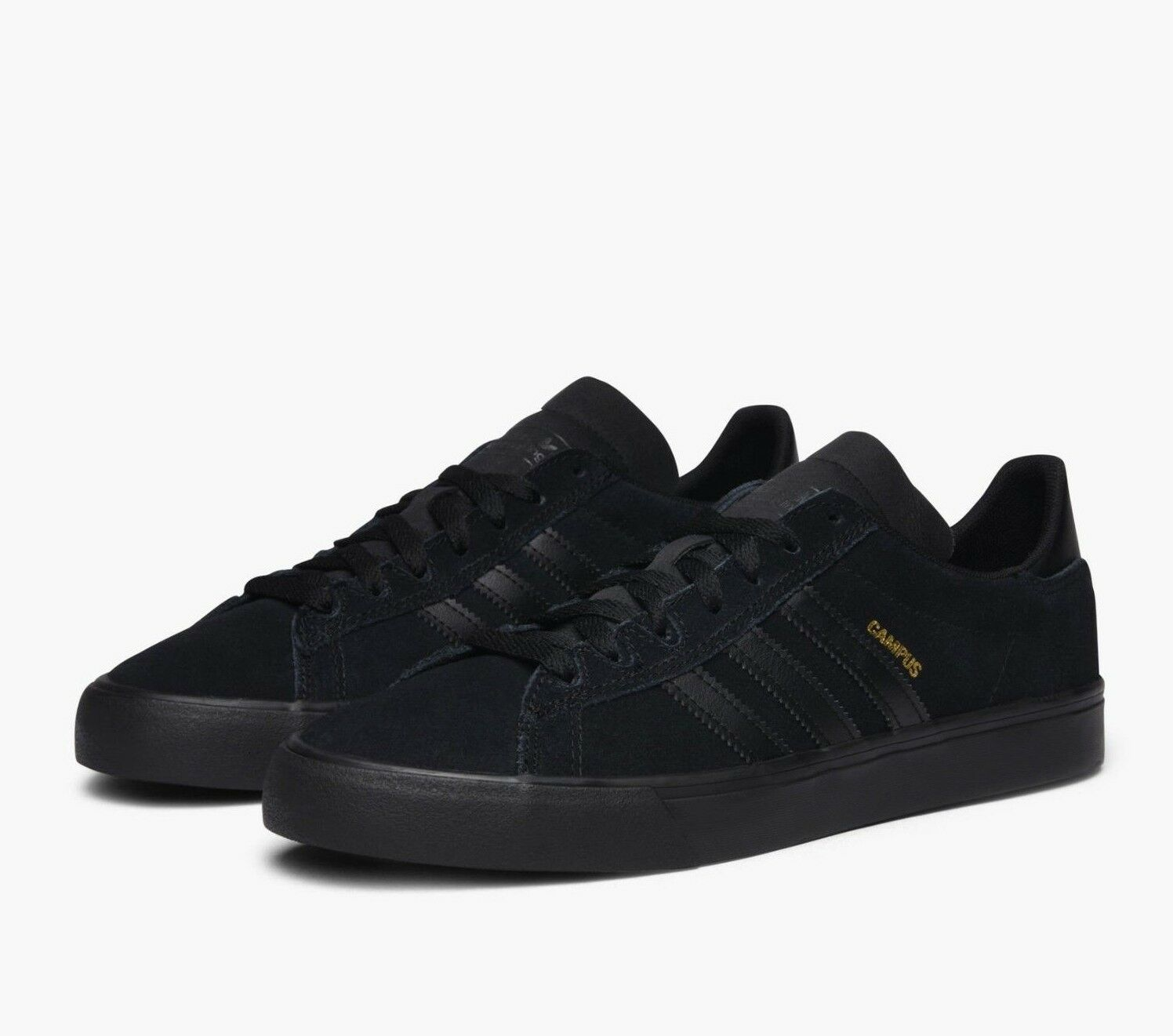 Adidas Originals Campus Vulc 2 Mens Trainers Suede Leather shoes BY3962 - Black