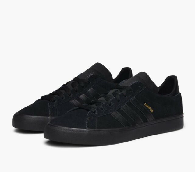 41b6400729779a Adidas Originals Campus Vulc 2 Mens Trainers Suede Leather Shoes BY3962 -  Black