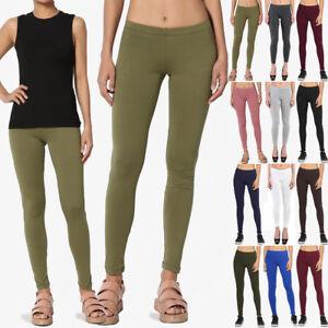 a3003b1e753942 TheMogan Women's Essential Basic Plain Cotton Spandex Ankle Full ...