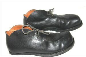 CYDWOQ Chaussures à Lacets Cuir rigide Noir Doublées Cuir T 44 TTBE