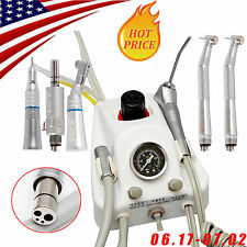 Dental Portable Air Turbine Unit 4H workw/ Compressor + High Low Speed Handpiece