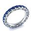 Round-Cut-blanc-saphir-Femmes-Argent-925-Bijoux-elegante-bague-de-mariage-Taille-6-10 miniature 8