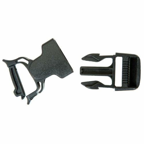 Gear Aid Heavy Duty Dual Snap Bar No Sew Sac à dos Réparation Boucle de randonnée-Noir