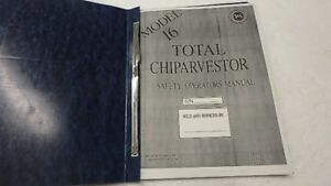 Details about CHIPARVESTOR MORBARK 16 WOOD CHIPPER OPERATOR PARTS MANUAL Ci3