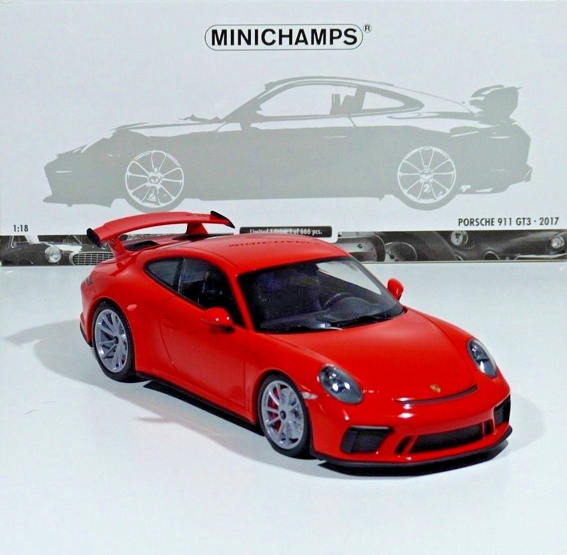Porsche 911 (991 II) gt3 année-modèle 2017 Orange 666 PC. 1 18 Minichamps