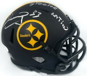 Merrill-Hoge-autographed-signed-inscribed-Eclipse-mini-helmet-Pitt-Steelers-JSA