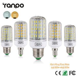 1X 5X 10X E14 E27 5730 SMD LED Corn Bulb Lamp 7W 12W 25W Candle Light 110V 220V