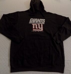 New-York-Giants-Pullover-Hoodie-Large-Charcoal-Gray-Majestic-NFL