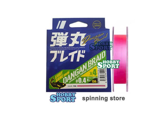 6666 Major Craft Dangan Braided Linie X4 150m P.E 0.4 Pink DBL4-150//0.4PK//8lb