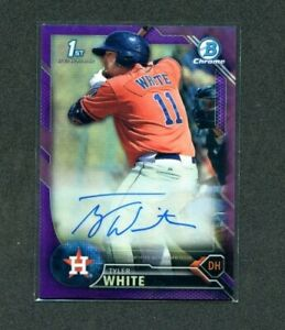 Tyler-White-2016-Bowman-Chrome-Purple-Refractor-Auto-Rc-66-250-Rookie-Autograph