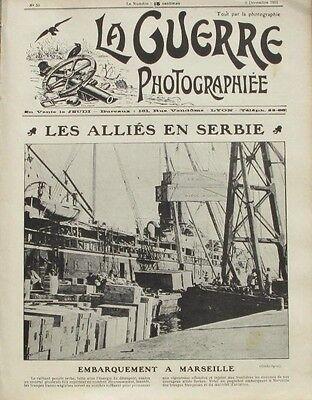 Eerlijk La Guerre Photographiée N°59 - 1915 - Embarquement à Marseille - Rare