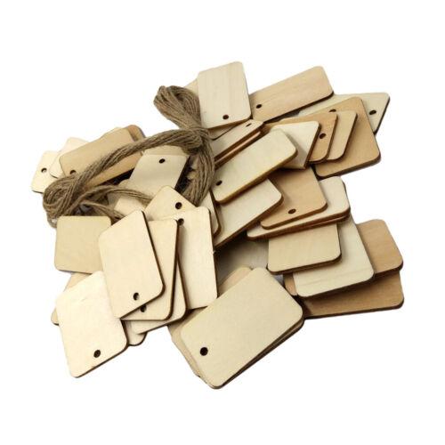 50 Stück Unvollendete Holz Tags Holz Geschenkanhänger Für Hochzeit Mit