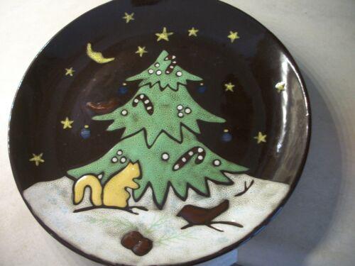 "TREE SNOWMAN SONOMA WINTERS NIGHT DINNER PLATE 11/"" YOU CHOOSE VGUC SANTA"