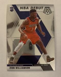 2019-20 Mosaic Zion Williamson NBA Debut Rookie Card RC #269 Pelicans