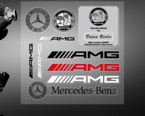 1set AMG Car Strips Stickers Decal Badge Emblem For Mercedes Benz C250 E350 SL
