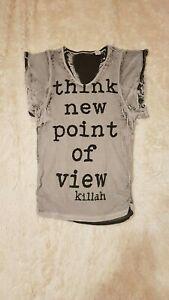 finest selection a653e 0e542 Details zu Killah T-SHIRT, Longshirt, Tunika Fledermausärmel Gr. M