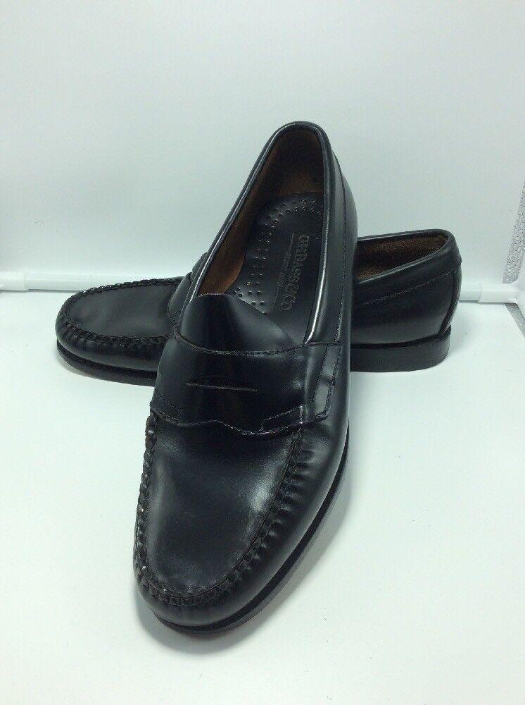 """Men's Flat G.H. Bass """"Logan"""" Black Leather Flat Men's Panel Loafers 7.5 E e26b02"""
