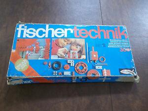 Vintage-1970-039-s-Fishertechnik-Grundkasten-300-Standard-Building-Set-Parts-Lot