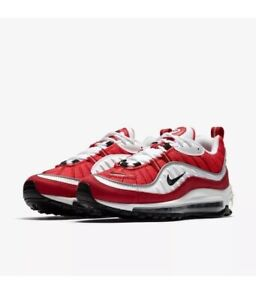 Details about Nike Air Max 98 Gym Red White 2018 AH6799 101 Size 7 12