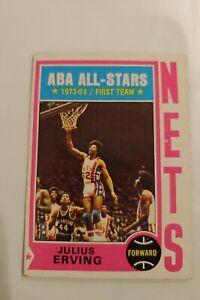 1974 - 75 Topps Julius Erving #200 New York Nets error basketball card EX