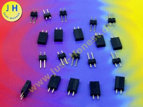 Stk.10x BUCHSENLEISTE STIFTLEISTE 2 polig KIT HEADER Pin Strip Arduino#A1764