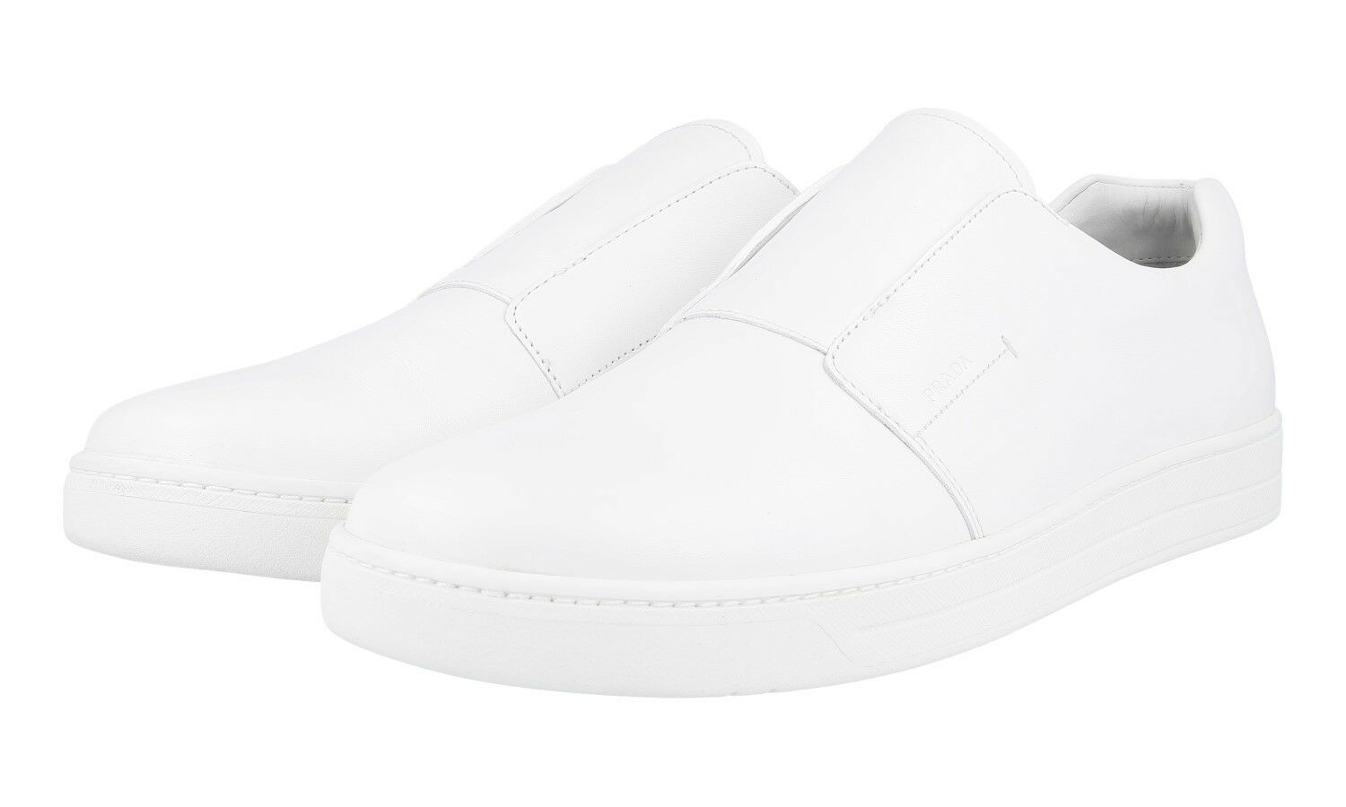 AUTHENTIC LUXURY PRADA SNEAKERS SHOES 4D2870 WHITE NEW 9,5 43,5 44