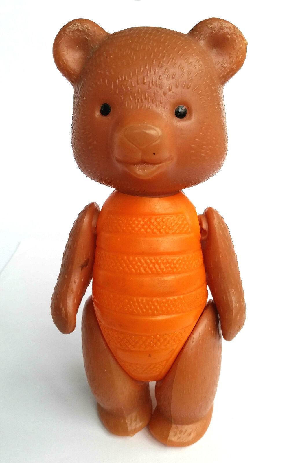 1960s USSR Russian Soviet Plastic Toy braun TEDDY BEAR Mishka