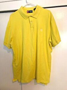 Chaps-Short-Sleeve-Polo-Shirt-Neon-Yellow-Mens-Size-XXL