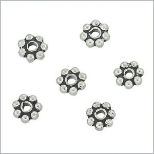 20-Bali-Sterling-Silver-Daisy-Rondelle-Spacer-Beads-4mm-51230