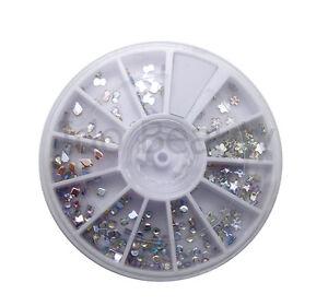6cm Nail Art Gems Design Craft Nails Wheel Mixed Style Silver Ab
