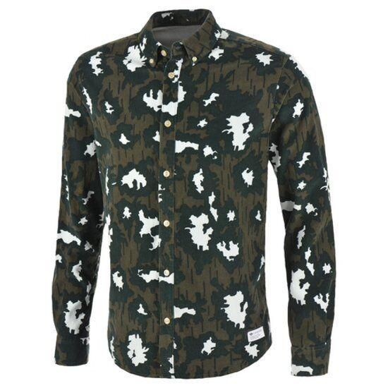 888706ef Mens adidas Originals AOP Camo Shirt Medium M64219 Button up Long Sleeve