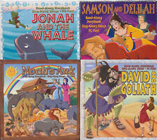 4x Bible Audio Books - Christian Children's Stories Noah + Jonah + David Goliath