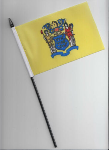 New Jersey US State Small Hand Waving Flag