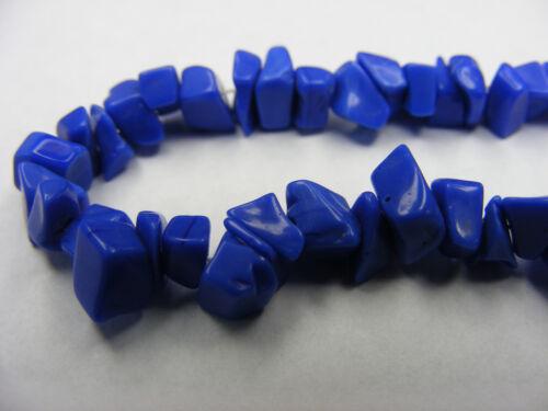 b78 1 FIL CHIPS VERRE COULEUR cobalt  35CM ~7mm