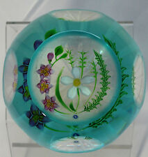 Caithness / Whitefriars Summer Flowers Paperweight 1993 Ltd Ed. Margot Thomson
