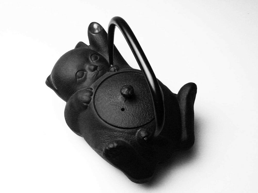 NOUVEAU FONTE Nambu Ironware Bouilloire Playful Cat Design 0.6 L from Japan F S