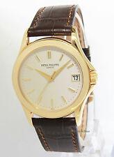 Patek Philippe Mens Calatrava 5107 18k Yellow Gold Automatic Watch 5107J +Box