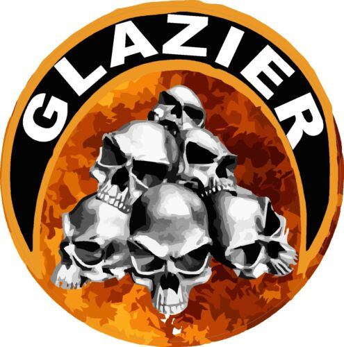 Glazier with skulls and fire CGLZ-5