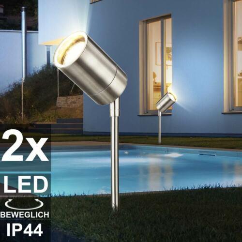 LED faretti Steck giardino lampade esterno in acciaio inox Spot movibile Corte luci
