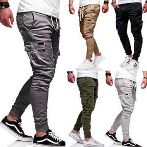 Herren-Cargo-Chino-Hose-Jogger-Jeans-Cargohose-Jogginghose-Stretch-Pants-NEU