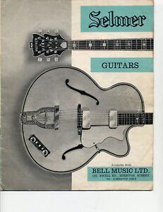 1961 62 selmer hofner catalog brochure price list ebay