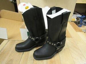 Cbc Canada Black Loggertan Square Toe Motorcycle Boots Ladies