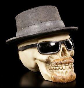 Skull-Figure-With-Hat-And-Sunglasses-Badass-Small-Heisenskull-Decor