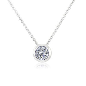 7256bd6f52 Das Bild wird geladen Damen-Kette-Silber-925-Halskette-Anhaenger -Zirkon-NOBEL-