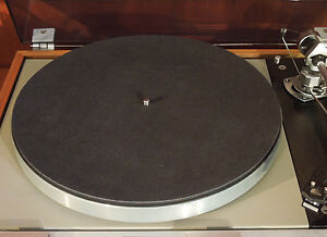 NEW-Audiophile-Black-Leather-Turntable-Record-Player-Mat